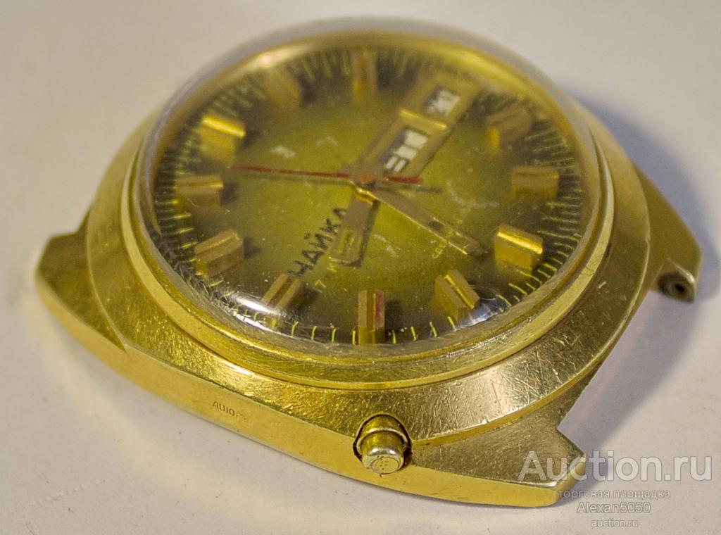 Часы мужские Чайка дата календарь Au10 2628Н рабочие