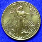 """25 долларов 1996 год Золотая монета """"Американский Орел""""  Вес 17,05 гр. Au 916,7"""