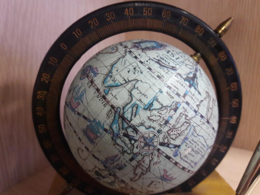 Глобус с ручкой. СССР.