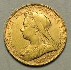 Соверен Великобритания 1900 года. Золото 7,99 гр. Сохранность отличная