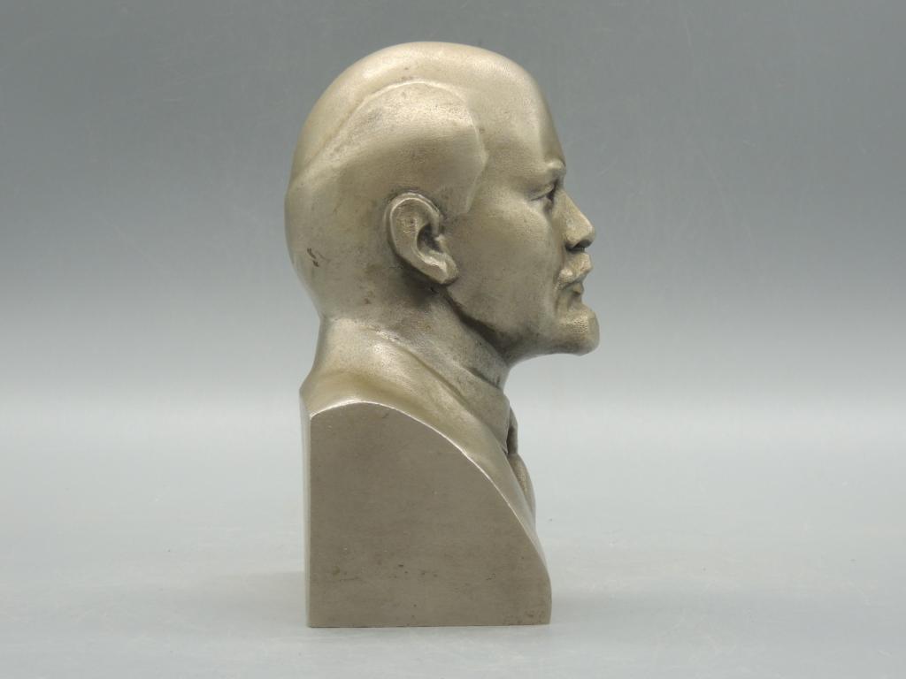 Скульптура Силумин Бюст Владимир Ильич Ленин Высота 17 см  С Рубля