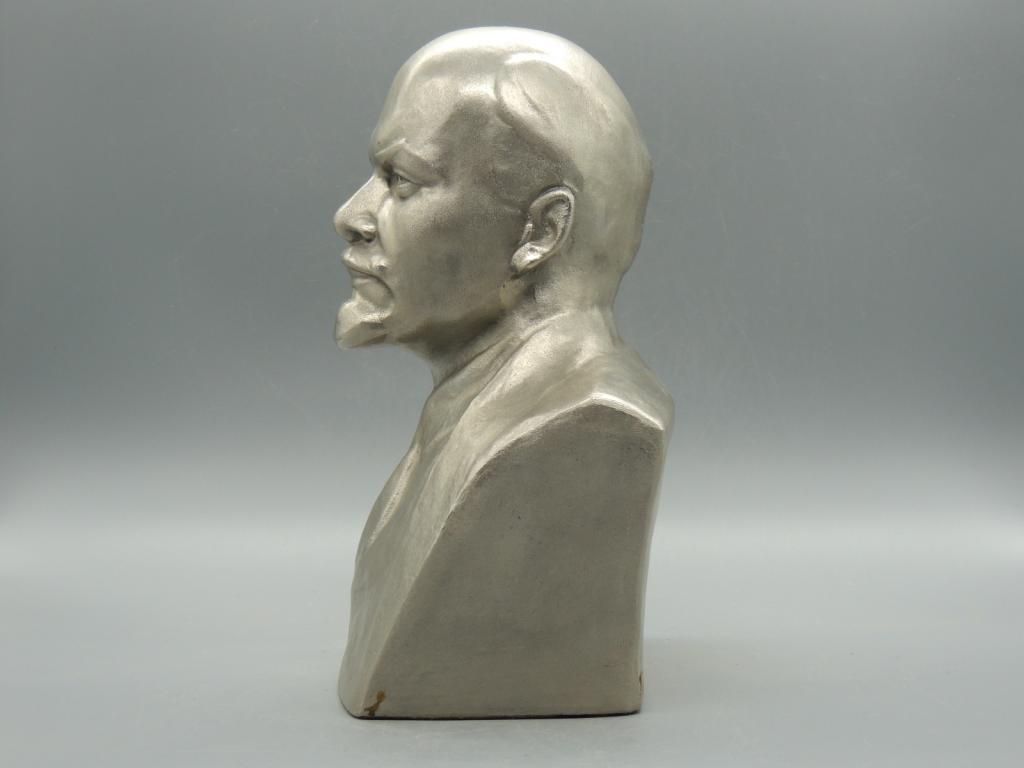 Скульптура Силумин Бюст Владимир Ильич Ленин Высота 28 см  С Рубля