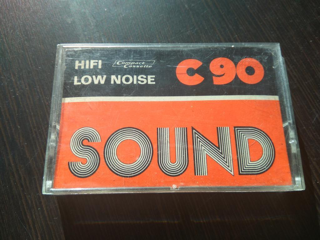 аудио кассета SOUND HiFi Low Noise C 90 хор.сост. редкая