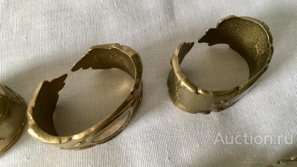 Стар кольца для салфеток Барокко Латунь 6 шт 5 см 0,35 кг