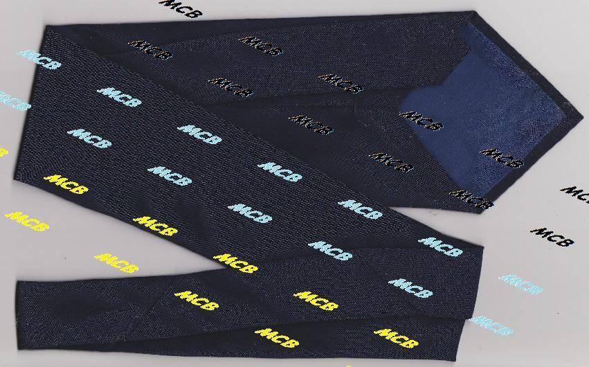 Мужской перевязочный щелковый темно-синий галстук без рисунков