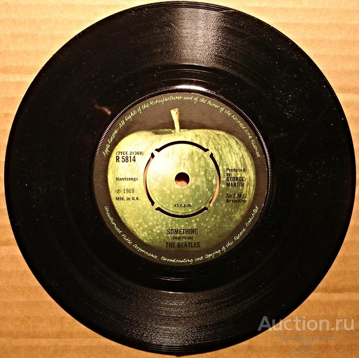 Пластинка виниловаяThe Beatles – Something / Come Together  UK Отличное состояние