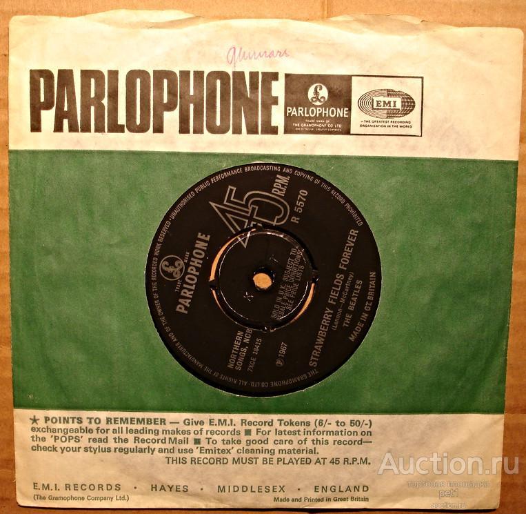 Пластинка виниловаяThe Beatles – Strawberry Fields Forever / Penny Lane  UK Отличное состояние