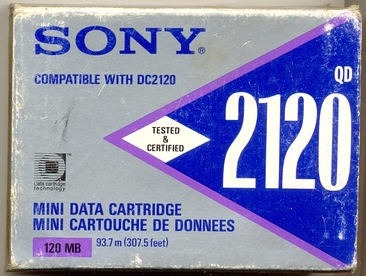 В коллекцию Cartridge Mini data SONY DC2120 (120 Мб) Кассета для стриммера как новая