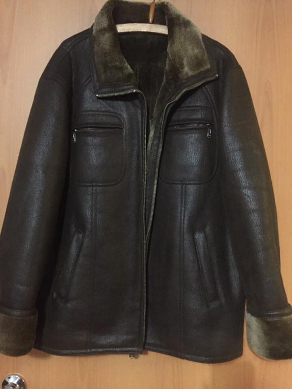 Кожаная мужская куртка-дубленка