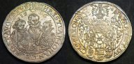 Саксония, Кристиан II, Иоганн Георг и Август (1591-1611) талер 1596 года