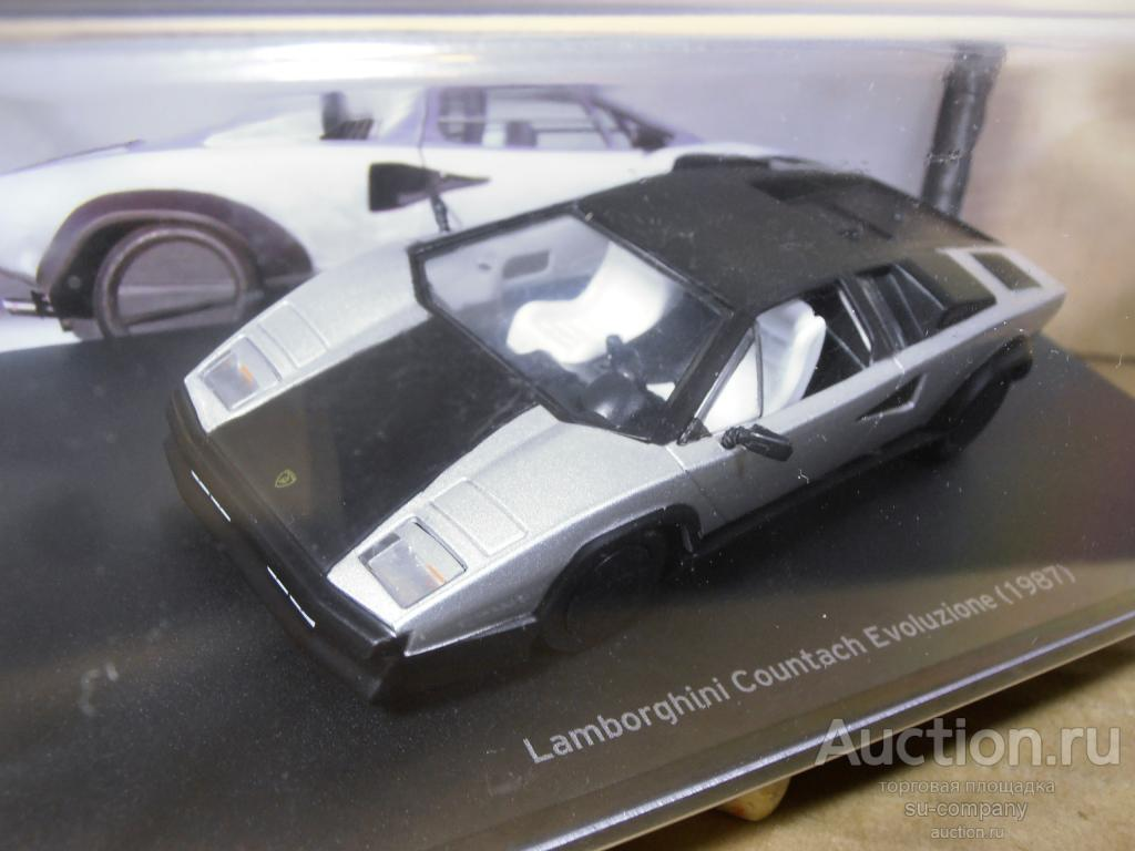 Lamborghini Countach Evoluzione 1987 Black Silver 1 43 Metall Altaya