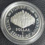 1 доллар США 1987 год  200 лет конституции США ПРУФ Серебро С РУБЛЯ!!!!
