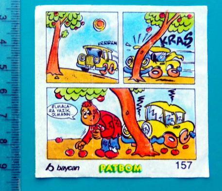 ВКЛАДЫШИ PATBOM комиксы 1 штука cS (128) №157