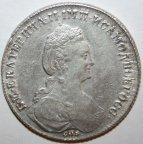 1 рубль 1780 СПБ ИЗ. XF+
