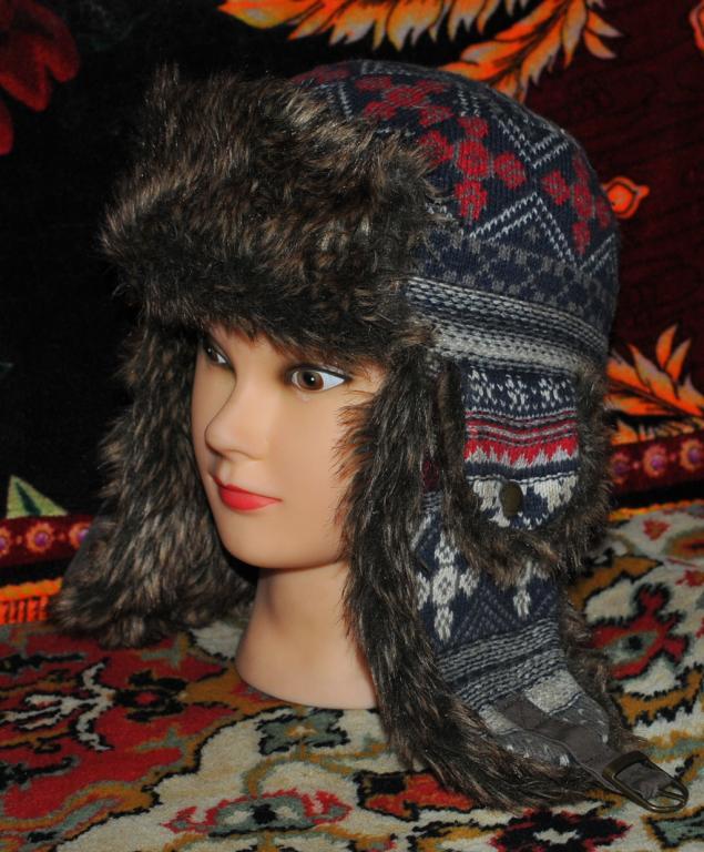 Фирменная модная шапка ушанка H&M