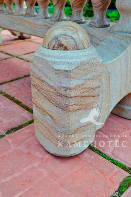 Стол из природного камня ручной работы