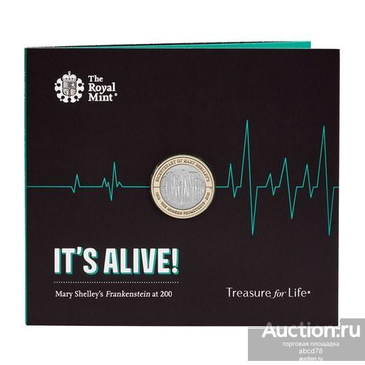 BUNC: 2 фунта 2018 г.  Франкенштейн . Великобритания