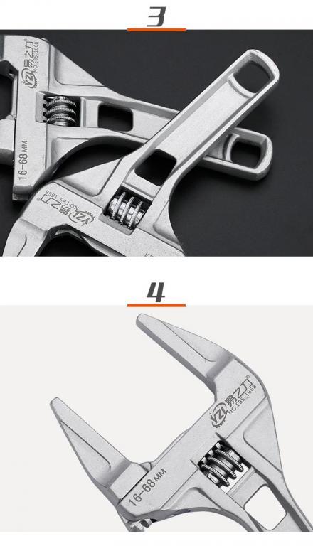 Ключ разводной #1 лёгкий захват 16-68 мм