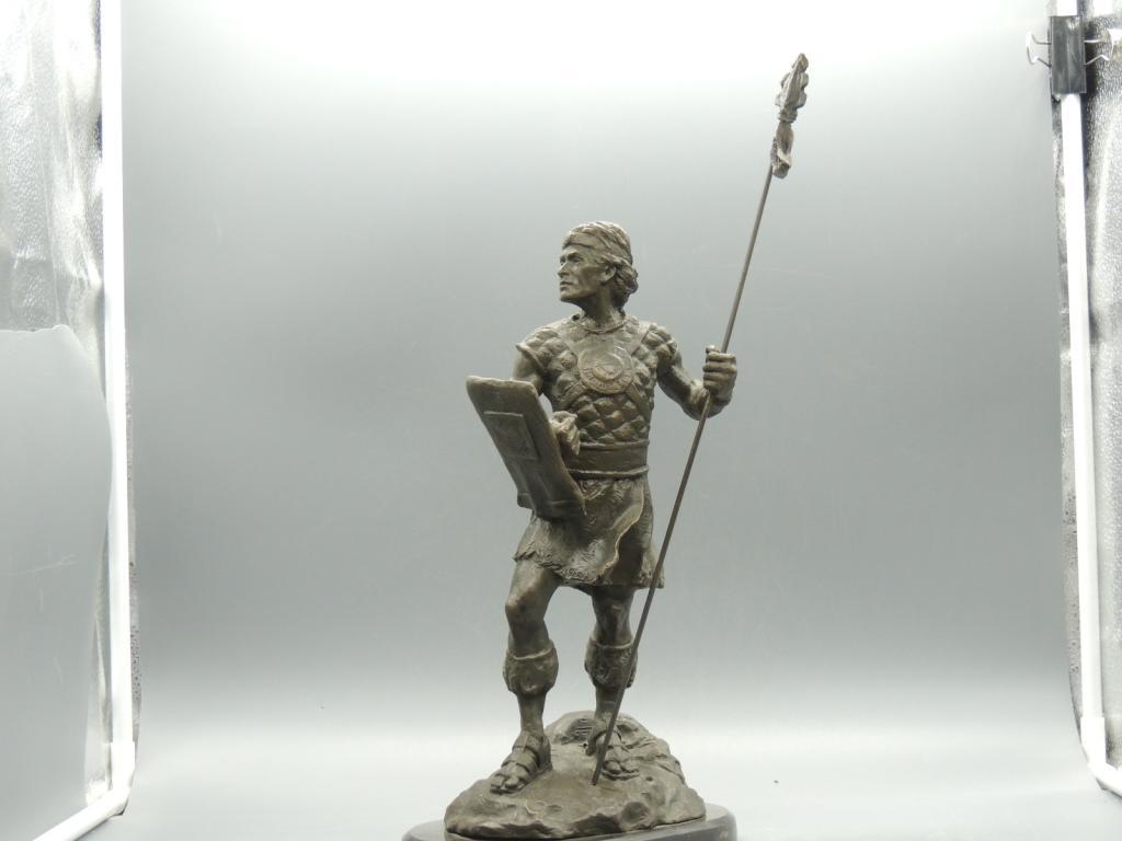 Скульптура Статуэтка Древний Воин  Красивая Интерьерная Бронза Высота 44 см С Рубля