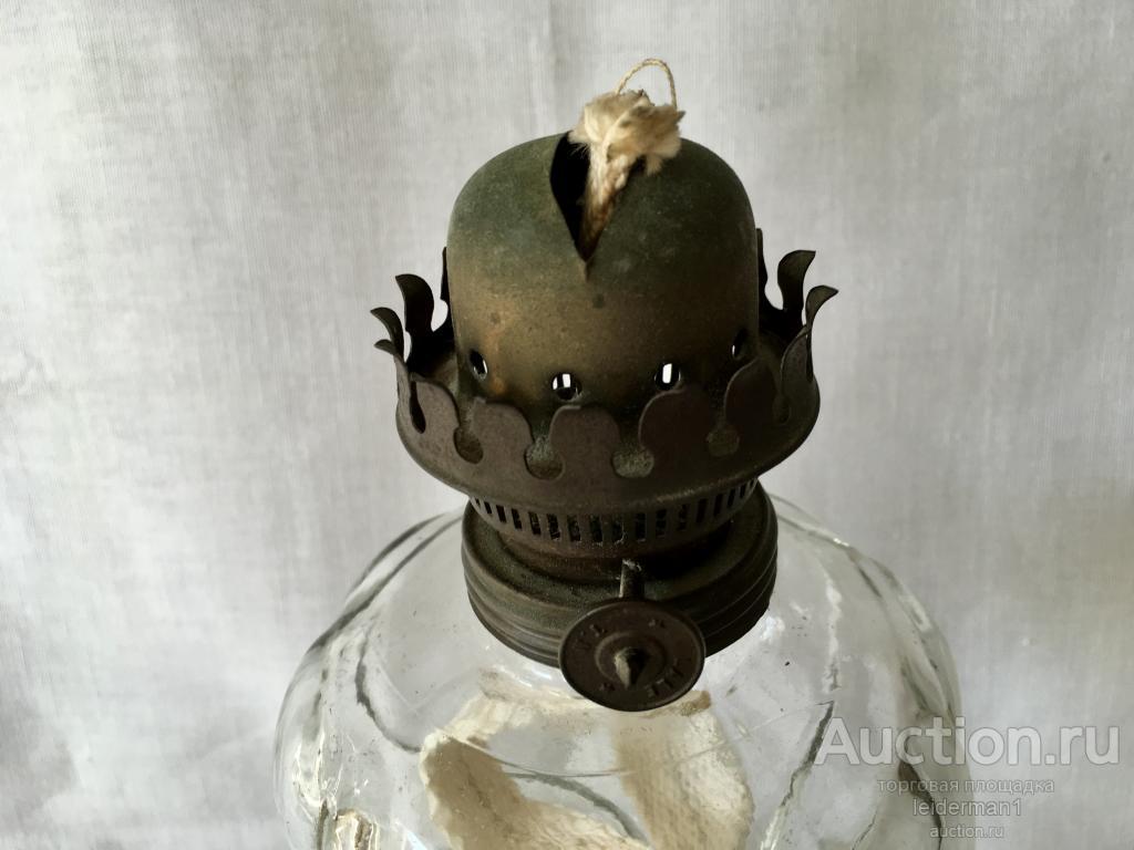 Стар керосиновая лампа  Латунь Стекло 45 см 1,2 кг