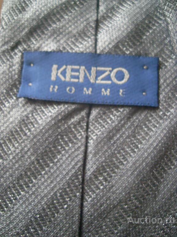 Галстук KENZO homme Натуральный шёлк/ шерсть Италия графит