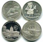 4 монеты: 2000 форинтов 1997-1998 гг. Венгрия,  Серебро, Общий вес: 126,8 грамм.
