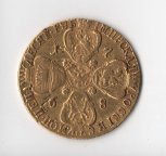 10 рублей 1768 года СПБ-TI, Биткин R, Петров - 22 рубля, Ильин - 20 рублей! В коллекцию!