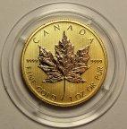 50 долларов 2014 год. Золотой канадский кленовый лист. Канада. Золото 999 - 31.1 гр. Редкость - RRR!