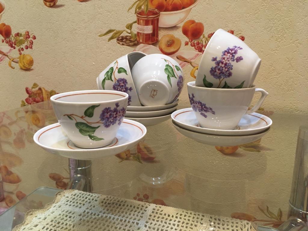 6 чайных пар ( чайная пара 6 шт ) СССР цена за все