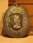 Советский медальон армянский царь Тигран 2 Великий. Металл.