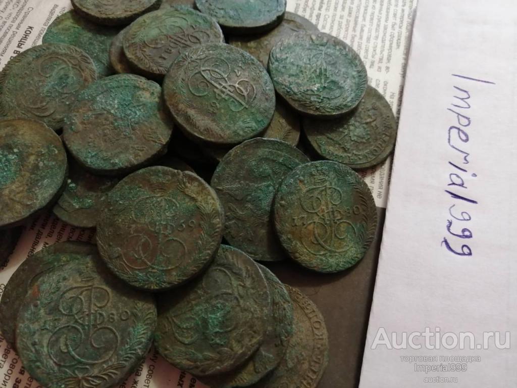 Монета 5 копеек 1772г. Е.М. Екатерины2. С Рубля!