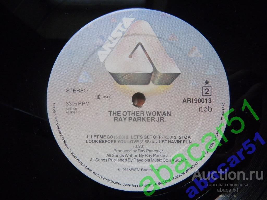 RAY PARKER Jr. The Other Woman HOLLAND. ARISTA IN/SL 1982 год LP EX+/N.MINT.