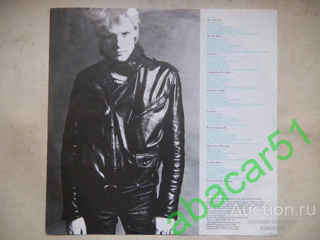 BRYAN ADAMS Cuts Like A Knife GERMANY. A&M IN/SL 1983 год LP ORIGINAL EX+/EX.