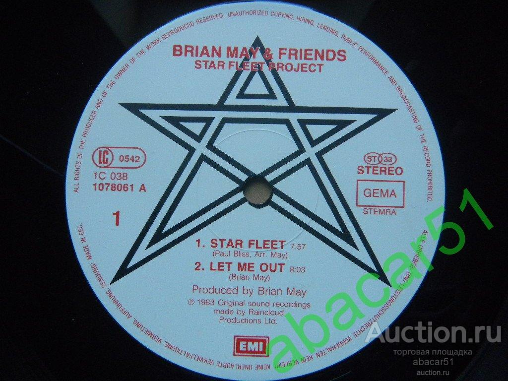 BRIAN MAY (Queen) and FRIENDS Star Fleet Project GERMANY. EMI IN/SL 1983 год LP EX+/EX.