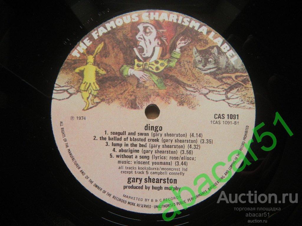 GARY SHEARSTON Dingo UK. CHARISMA 1974 год LP* ORIGINAL 1 press!!! N.MINT/N.MINT.