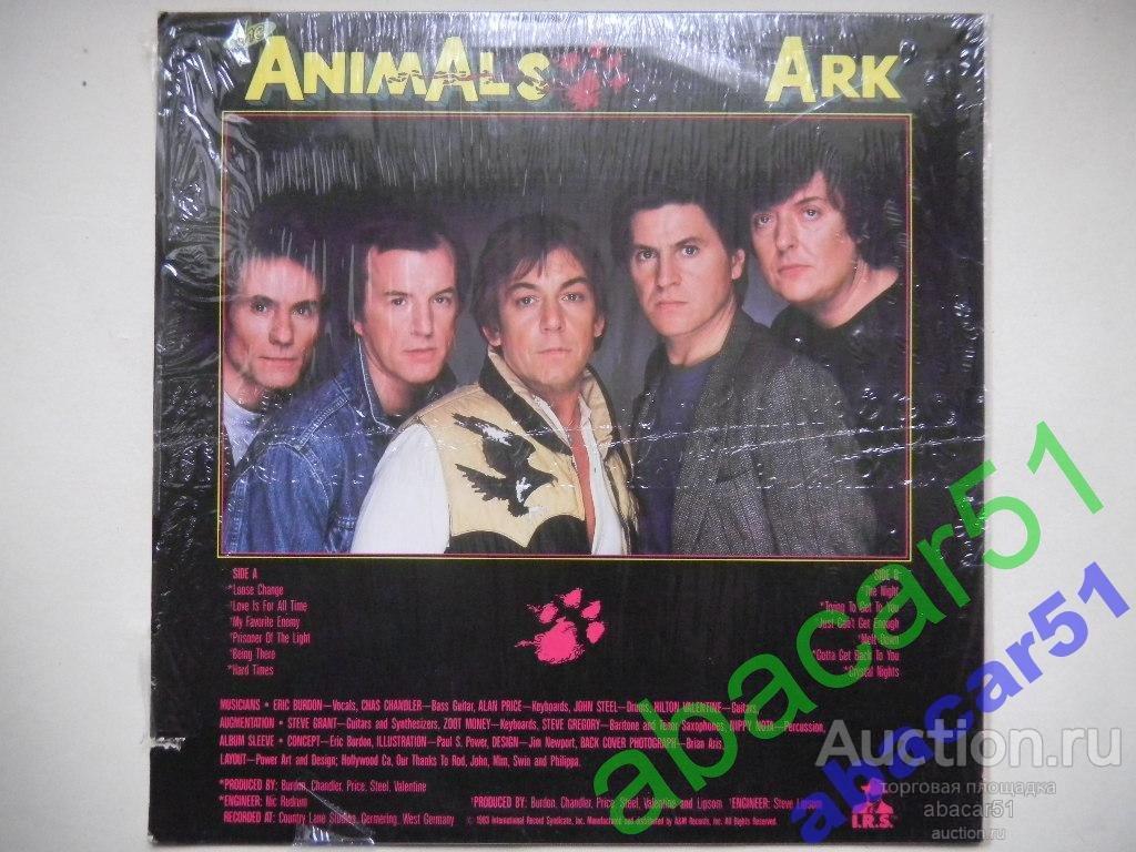 THE ANIMALS Ark USA. I.R.S. 1983 год LP ORIGINAL EX++/EX+.