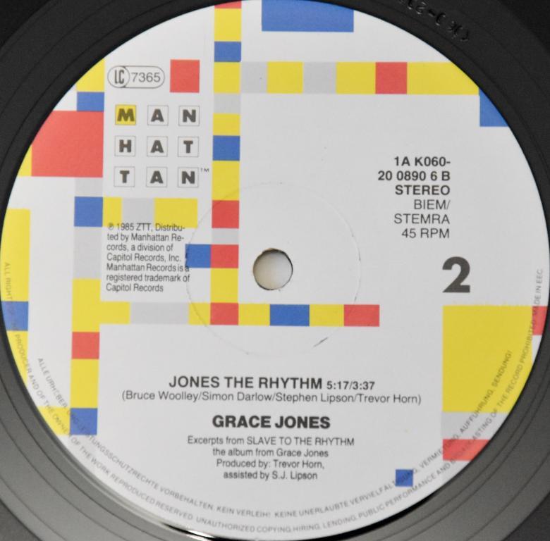 "Grace Jones ""Slave To The Rhythm"" 1985 Maxi Single"