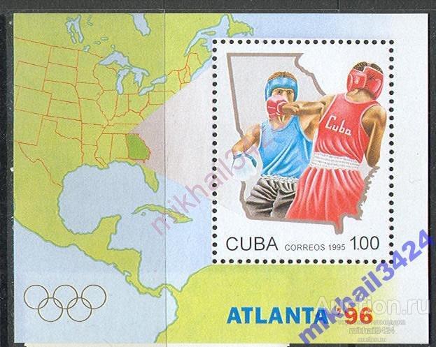 М0123 Спорт Олимпиада Олимпийские игры Бокс 1995 Куба Блок **
