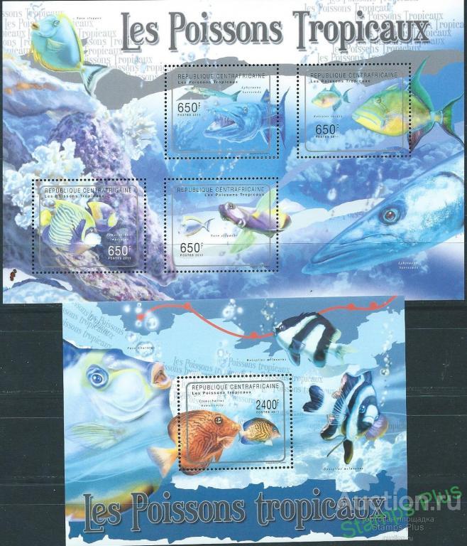 ЦАР (Центральная Африка) 2011 морская фауна рыбы (19,5 евро)