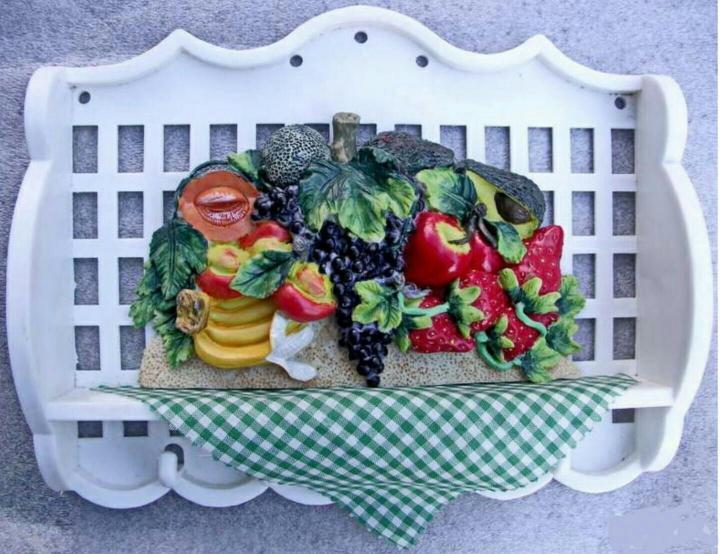 Новая белая Вешалка с фруктами