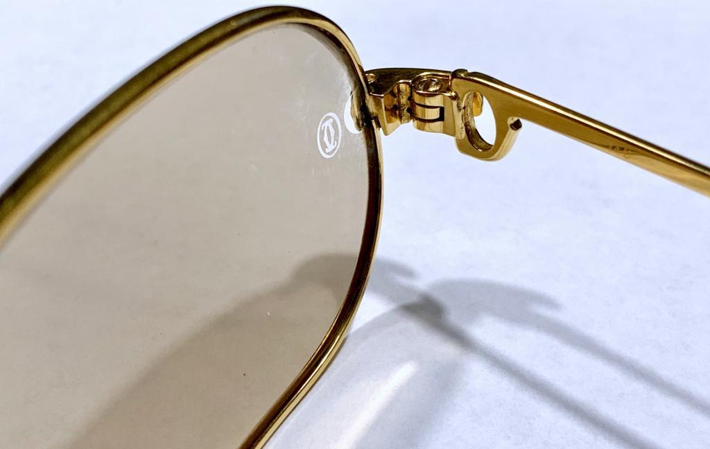 Винтажные очки Cartier 80`s годов 22 карат позолота