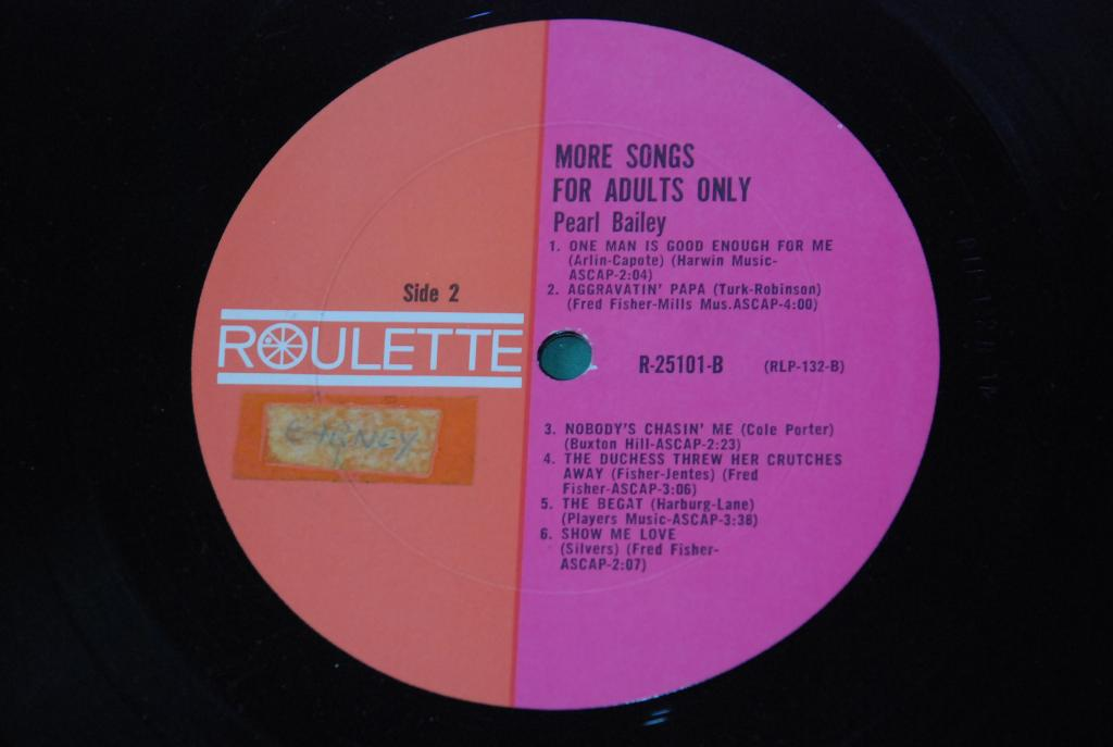 JAZZ  Pearl Bailey – More Songs For Adults Only  1960  USA  LP -   VG+