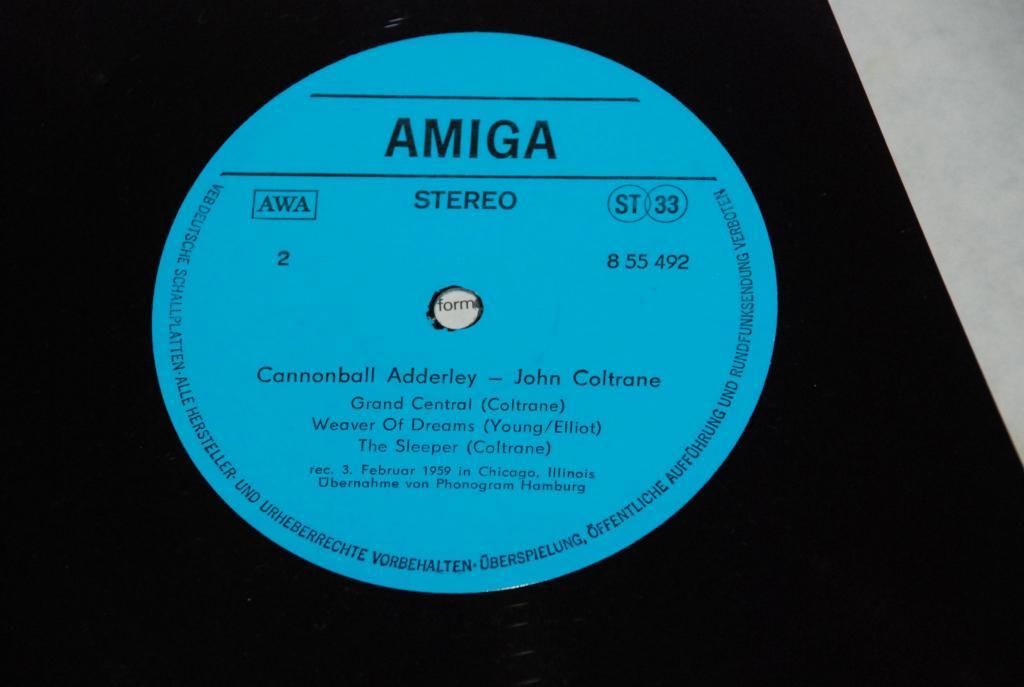 JAZZ  Cannonball Adderley - John Coltrane   1977  GERMANY AMIGA DDR *  LP  NEAR MINT