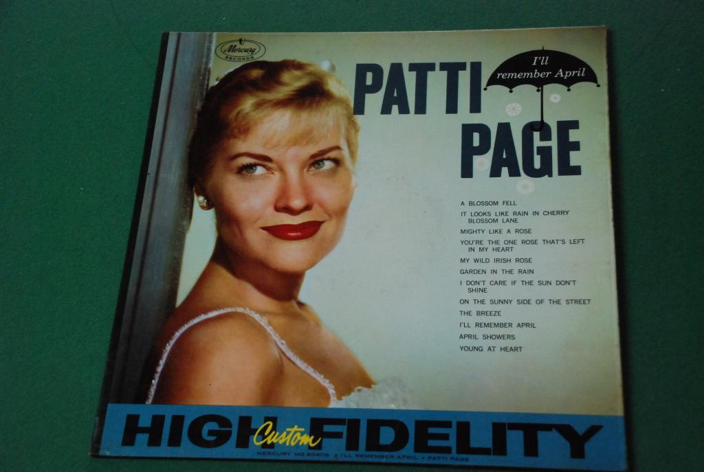 JAZZ  Patti Page – I'll Remember April   1959   USA  LP -   VG+