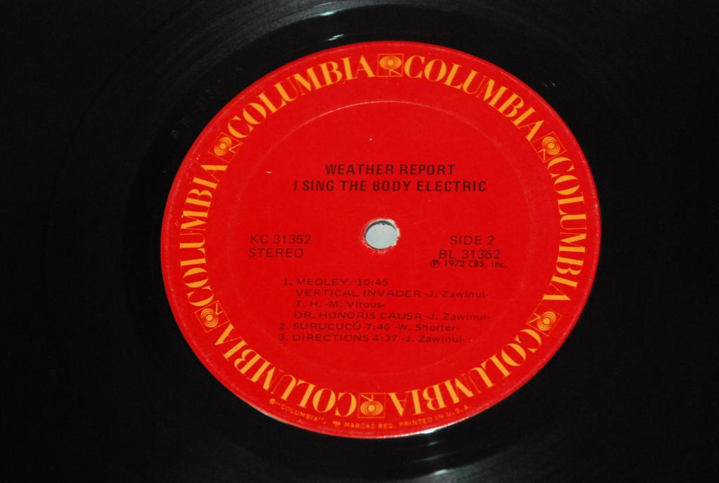 Weather Report – I Sing The Body Electric  1972  USA  COLUMBIA    LP  -   VG