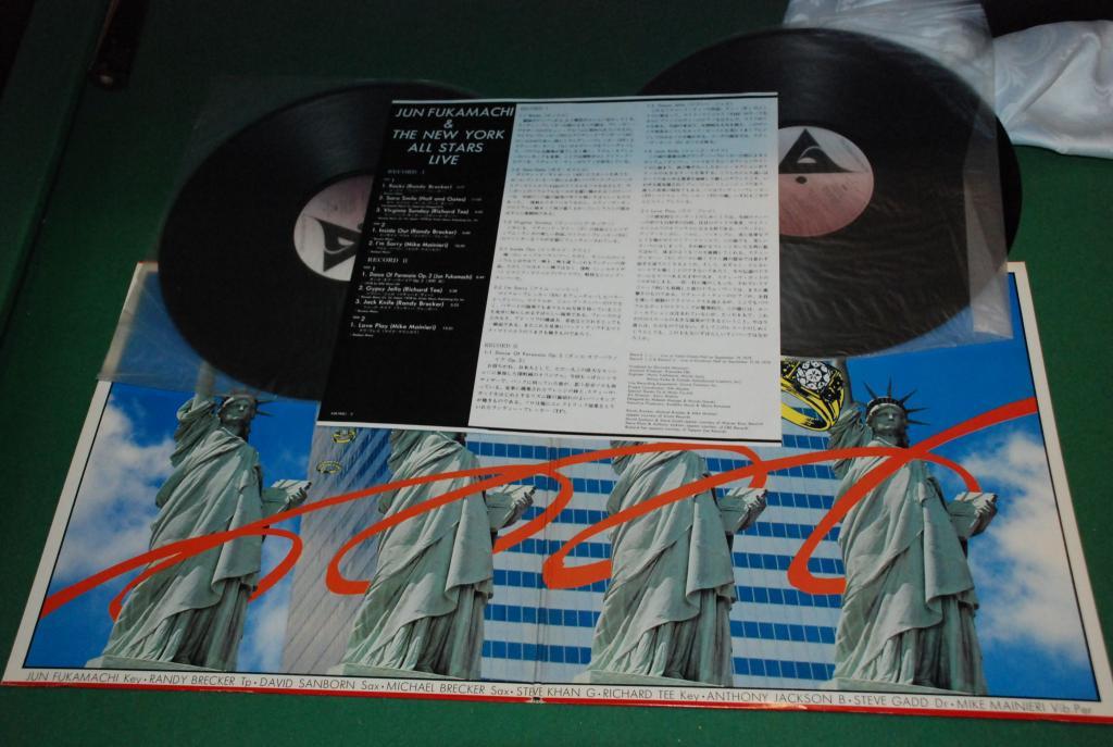JAZZ ROCK 1978 - Jun Fukamachi & The New York All Stars – Live *  1 PRESS - JAPAN 2LP  NEAR MINT