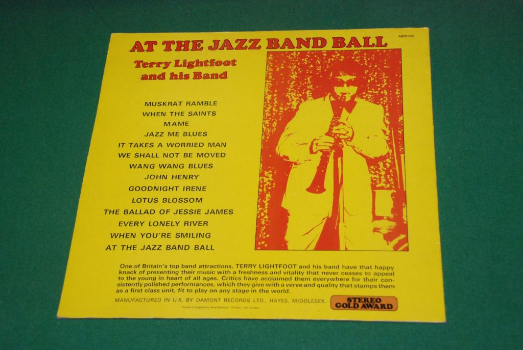 JAZZ  Terry Lightfoot And His Band ‎– At The Jazz Band Ball     1974  UK / ENGLAND   LP -   EX
