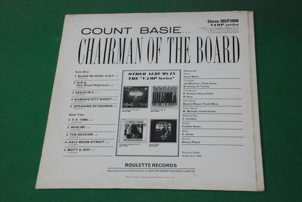 COUNT BASIE   – Chairman Of The Board   1970   UK / ENGLAND  LP  -   EX