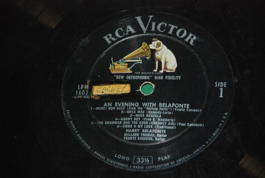 Harry Belafonte – An Evening With Belafonte  1957   USA   LP -  VG