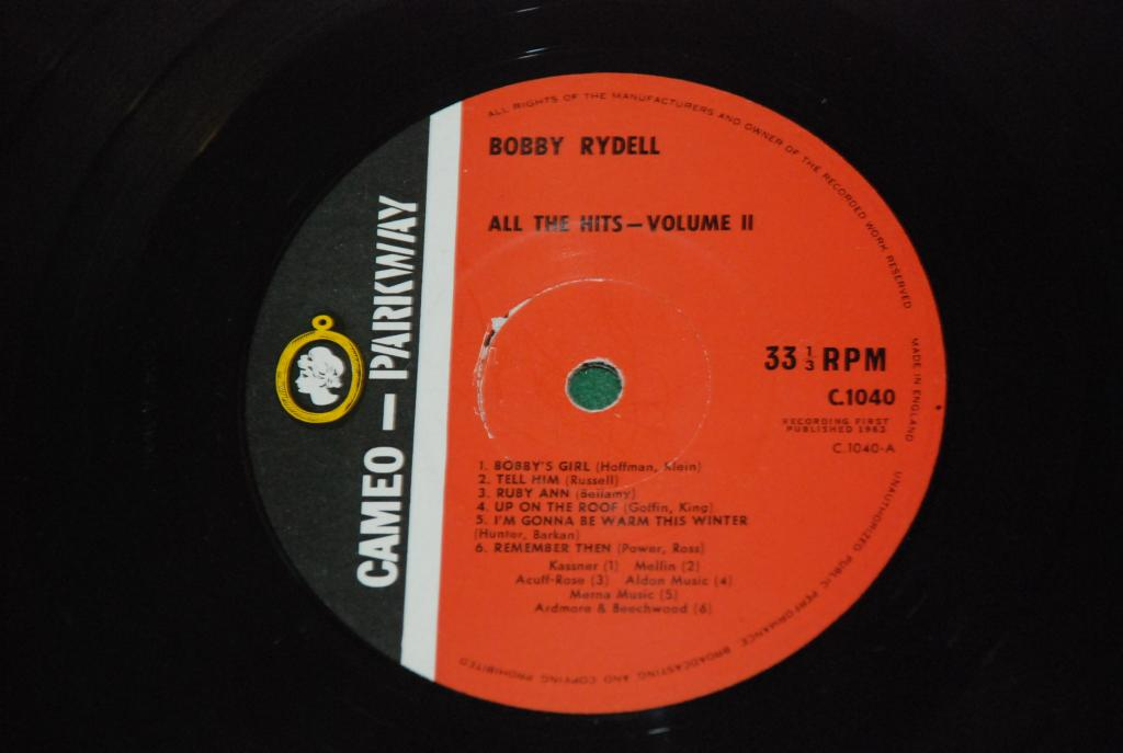 Bobby Rydell – All The Hits    1963     UK / ENGLAND   LP - EX